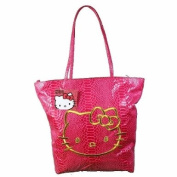 Hello Kitty Two Faced Pink Faux Python Tote