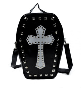Gothic Cross Coffin Sling Bag / Handbag with Pyramid Studs