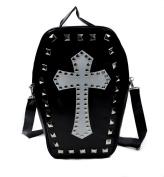 Gothic Cross Coffin Sling Bag / Handbag with Pyramid Studs