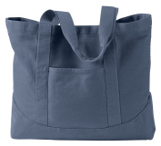 Authentic Pigment - 410ml Pigment-Dyed Large Canvas Tote __ One size,DENIM