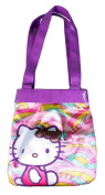 Hello Kitty Pink Purple multi colored Tote Shoulder Bag Abracadabra