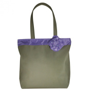 Kathy Ireland Glory Microfiber Tote, Sage and Lilac