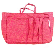 The Plaid Purse Bag Organizer - Fuchsia Hearts