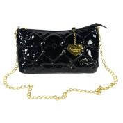 [Laura Favor] Fashion Black Love Leatherette Satchel Bag Handbag Purse Shoulder Bag