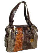 BeltsandStuds PU leather Brown Multi Messenger Shoulder Bag Brown