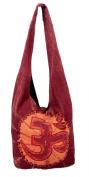 Om Yoga Bag - Shoulder / Sling Bag with Embrodiered Om Symbol Orange
