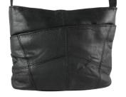 Super Soft Black Nappa Leather Ladies Shoulder Bag