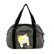 [Sweet Mio Mio] 100% Cotton Canvas Shoulder Bag / Swingpack / Travel Bag
