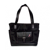 Day-Timer Pink Ribbon Black Microfibre Tote Bag