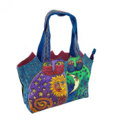 Laurel Burch `Celestial Felines` Medium Tote Purse