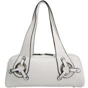 Dasein Dasein Sleek Classic Shoulder Bag w/ Ring Accents -White
