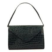 Green Patent Embossed Handbag