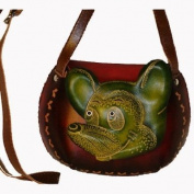 A Mickey Mouse Designs, Small Shoulder/cross-body Bag. Hand-made By Genuine Cowhide Leather. Unique.