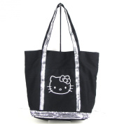 Hello Kitty Dazzled Silver Sequin Shine Shoulder Big Tote Bag - Black / Silver