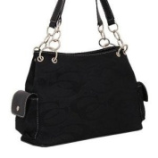 Signature Fashion Shoulder Cleto Handbag CC Purses-BLACK