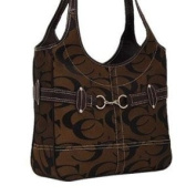 Signature Fashion Shoulder Cleto Handbag Purses-Brown
