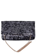 Black/Silver Sequin BLING Small Handbag/Clutch Evening bag by Jersey Bling