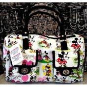 Disney Mickey Mouse Cartoon Handbag Purse White Pockets