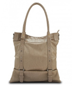 Pluck & Swagger Lindsay Faux Leather Women's Tote Handbag in Sandstone