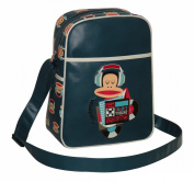 Paul Frank Unisex Julius Monkey Headphones Flight Bag Navy