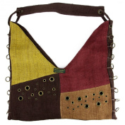 Earth Divas MH-140-CNE Camel & Expresso Hemp Shoulder Bag