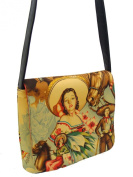 US HANDMADE FASHION SMILING CHARRAS PIN UP GIRL CALENDAR GIRLS 50's LATINO, Messenger Bag Shoulder Bag Style Handmade handbag purse Alexander Henry fabrics, MS 1539-4