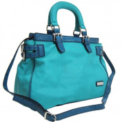 Dasein Dasein Croco Trim Tote Bag w/ Side Belted Accents -Blue