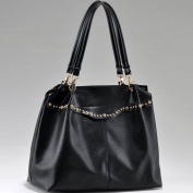 Dasein Rhinestone Studded Fashion Shoulder Bag -Black