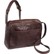 Ropin West Small Multipocket Shoulder Bag Brown - Ropin West Leather Handbags