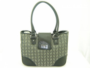 Tommy Hilfiger E/W Shopper Tote Handbag Purse Black Multi