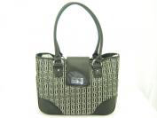 Tommy Hilfiger E/W Shopper Tote Handbag Purse Black Multi