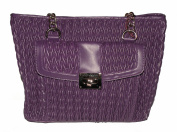 Kate Landry Woven Purple Bucket Tote handbag