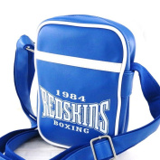 "Shoulder bag ""Redskins"" electric blue."
