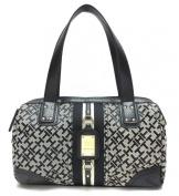 Tommy Hilfiger Women Bowler Satchel Handbag in Black & Tan