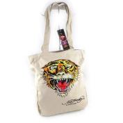 """Cabas bag """"Ed Hardy"""" beige tiger (a4)."""