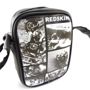 "Shoulder bag ""Redskins"" black white vintage."