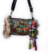 Exquisite Handbag Purse Shoulder Cross Body Vintage Bag 100% Handmade Artwork #138