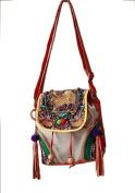 Exquisite Handbag Purse Shoulder Cross Body Vintage Bag 100% Handmade Artwork #139