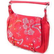"Bag ""Fuchsia"" red bohemian."