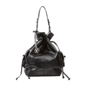 BACCINI boho shoulder bag SEADY for women - crafted hobo in genuine black leather