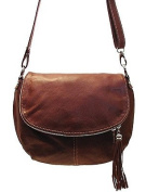 Floto Brown Trastevere Hobo Bag in Italian Nappa Leather - handbag, shoulder bag, purse