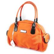 """Canvas bag """"Jacques Esterel"""" orange."""