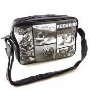 """Shoulder bag """"Redskins"""" black white vintage."""