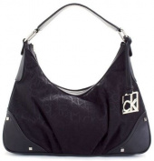 Calvin Klein Hudson Signature Hobo Bag in Black