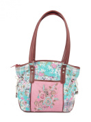 Ivory Tag Patterned Melange Hand Embroidery Handbag