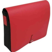 Shoulder Bag, Red Leather & Fabric, BB903RED