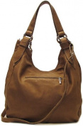 Floto Beige Siena Bag in Italian Nappa Leather - handbag, shoulder bag, hobo