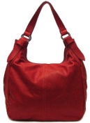 Floto Red Siena Bag in Italian Nappa Leather - handbag, shoulder bag, hobo