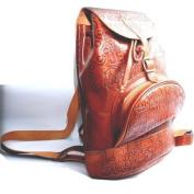 Leather back bag - Large