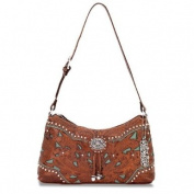 American West Lady Lace Collection Zip Top Shoulder Bag An Adjustable Shoulder Strap